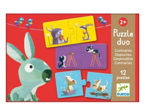 Puzzle duo contraires - Djeco