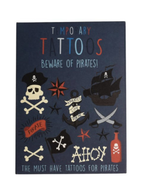 "TATOUAGES TEMPORAIRES ""BEWARE OF PIRATES"""