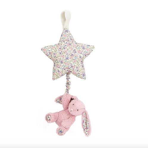 Jellycat Blossom Tulip Lapin tirer musicale - 28cm