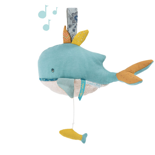 Peluche musicale Joséphine la baleine Le Voyage d'Olga Moulin Roty