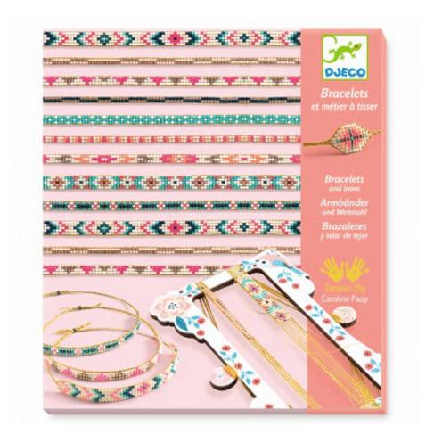 Bracelets et métier à tisser minuscules