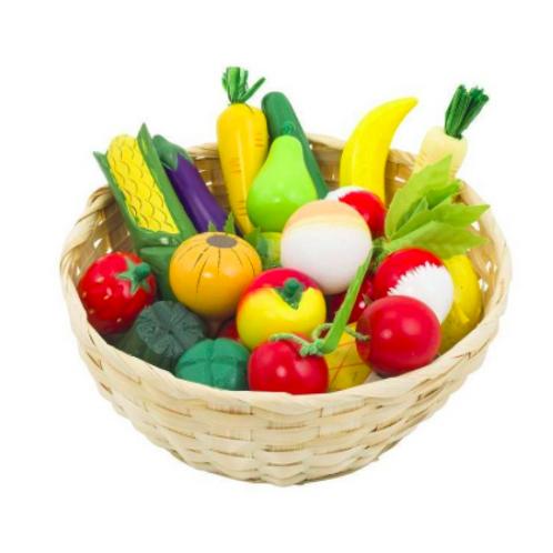 Corbeille fruits et légumes en bois