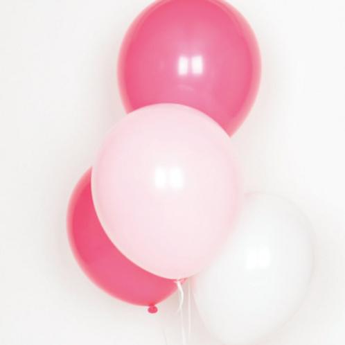 Ballons de baudruche : trio 10 ballons roses