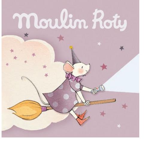 Boîte rose de 3 disques pour lampe à histoires Il était une fois Moulin Roty
