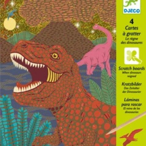 Cartes à gratter le règne des dinosaures - Djeco