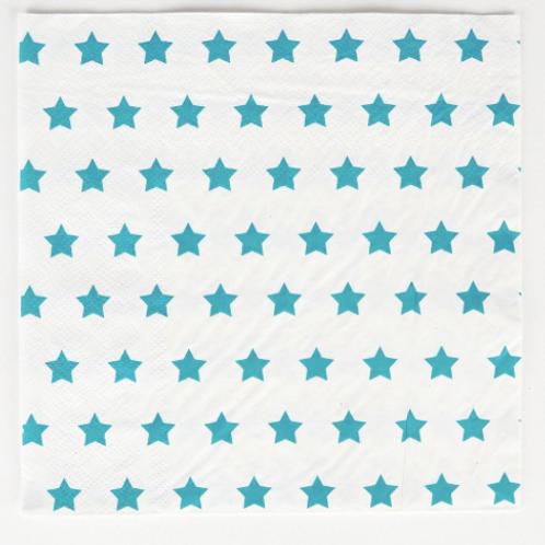 20 serviettes - étoile bleue