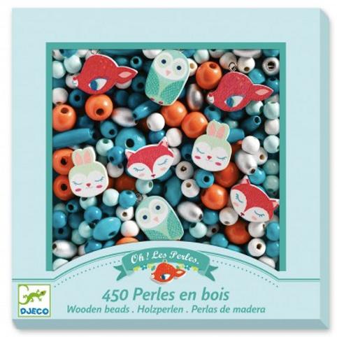 450 Perles en bois forêt
