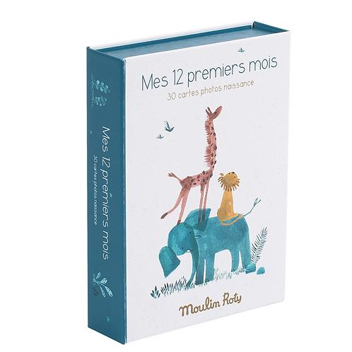 Moulin Roty Cartes Mes 12 premiers mois Sous mon baobab (30 cartes)