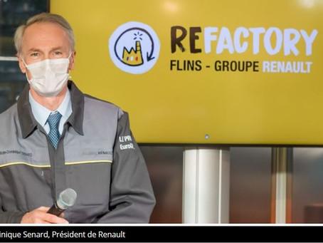 N°105 Renault Usine de Flins pour le Rétrofit des véhicules d'occasion