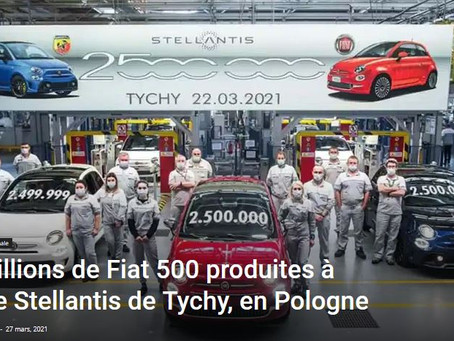 N°209 - 2 500 000 Fiat 500