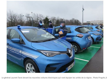 N°176- À Lyon, les gendarmes vont rouler en électrique
