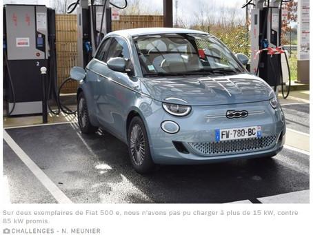 N°187 La Fiat 500 électrique incapable d'accepter la charge rapide?