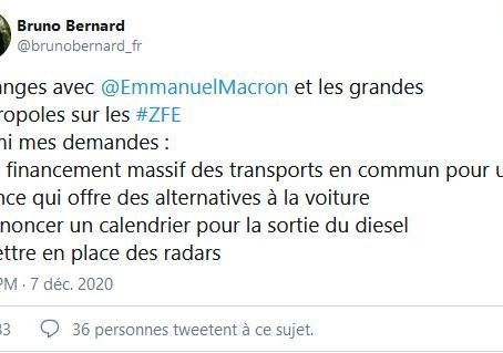 Fin des véhicules diesel à Lyon en 2026, bientôt des radars anti-pollution ?
