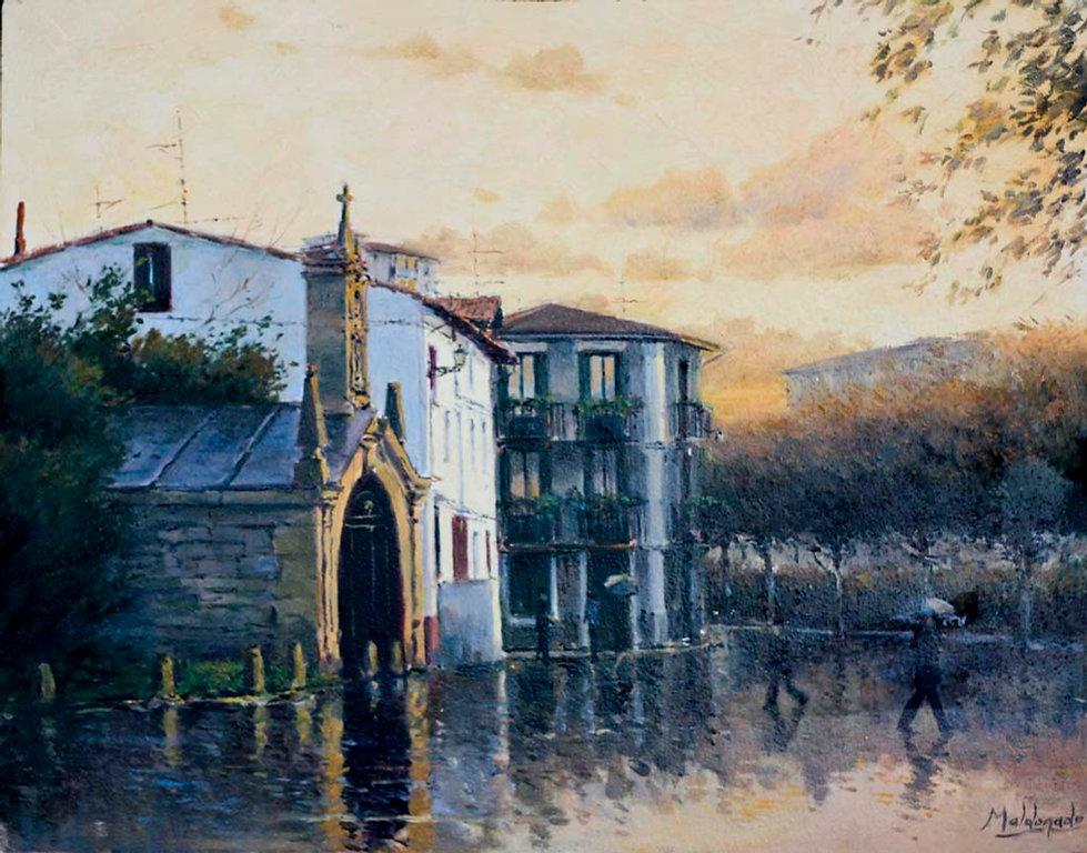 María, dibujo y pintura