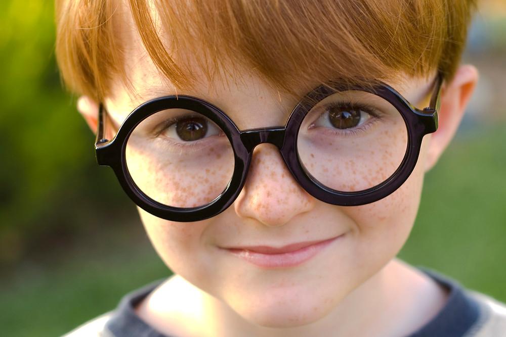 A child in Harry Potter fancy dress