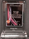 2016 Top women-owned businesses plaque.j