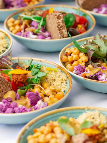 Leckerer veganer Mittagslunch