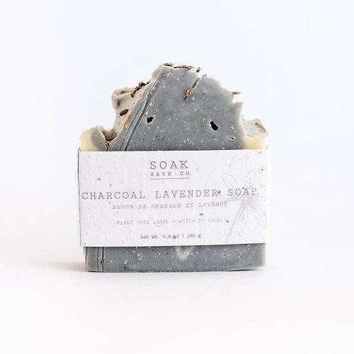 Soak Charcoal Lavender Soap