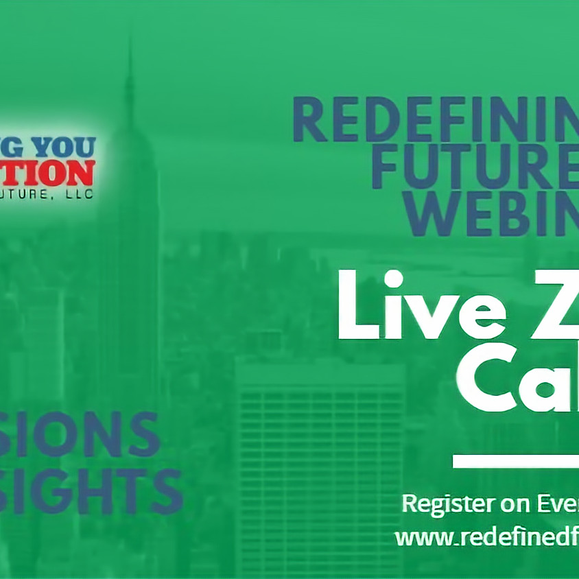 Redefining Your Future June Webinars: Education and Training
