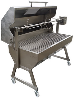 Charcoal Spit Rotisserie