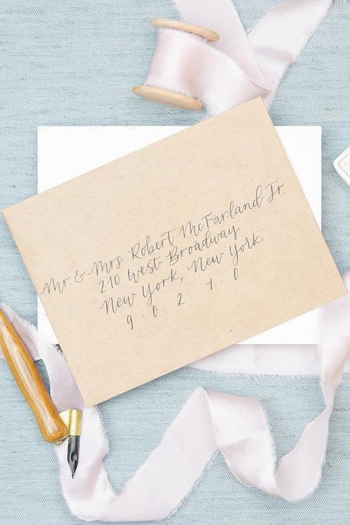 Subtle Fairytale Envelope Calligraphy