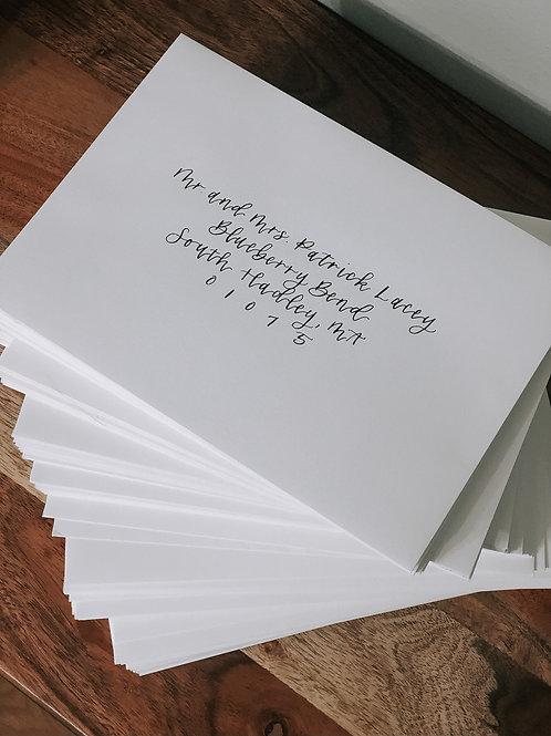 Heartbeat Envelope Calligraphy