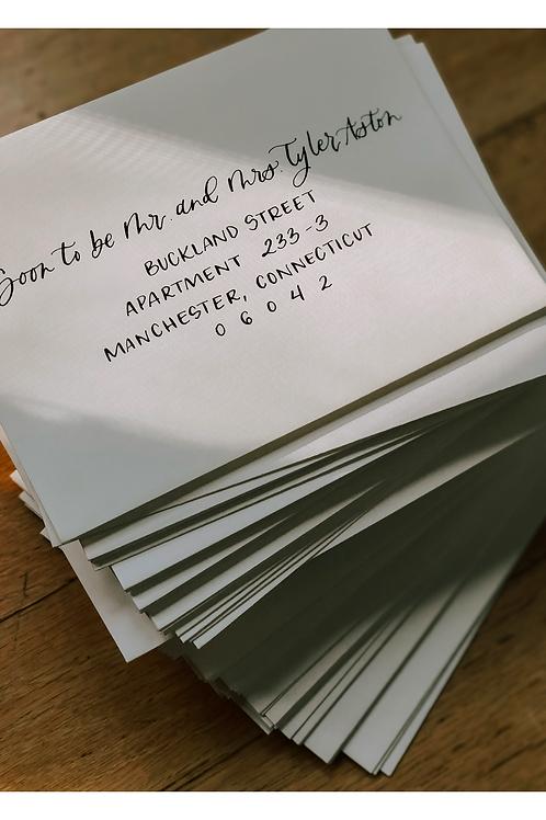 Modern Typewrite Envelope Calligraphy