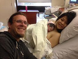 Natural Bradley birth at Los Angeles, valley area hospital.