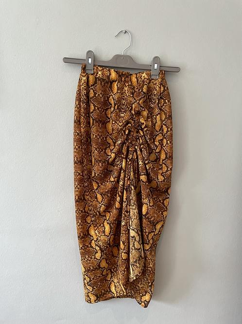 Ruched Snake Skirt