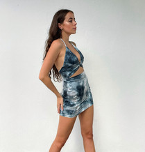 Lockdown Blues Dress