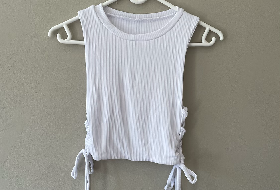 Crisscross Ribbed Cropped