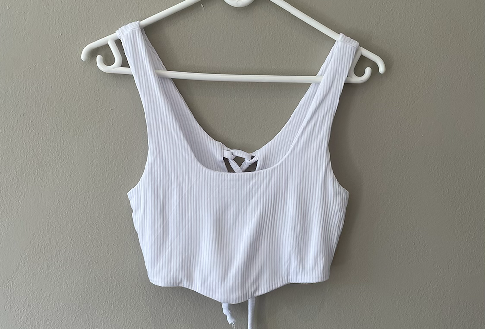 Cropped corset style crop
