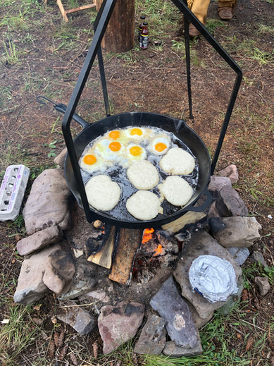 Breakfast, camp style