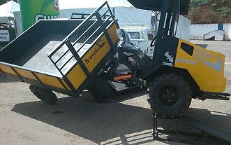 El tractor Braselio tiene un sistema escualizable que le permite adaptarse al cualquier terreno