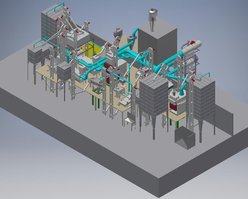 3D Milling Plant Design