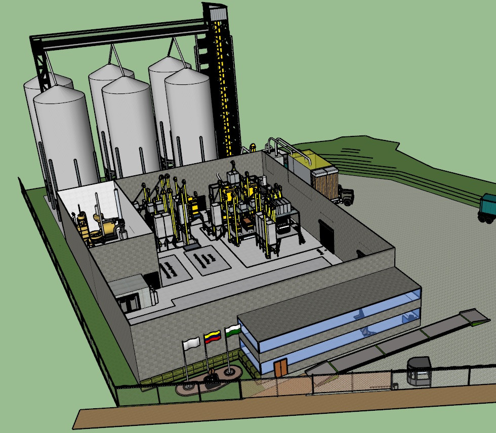 Complete Design of Milling and Roasting Coffee Processing Plant