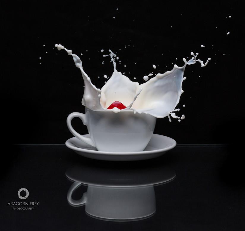 Milch-Splash