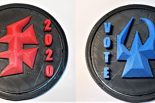 "Gowron / Martok Showdown: 2020 3"" Campaign Buttons (Set of 2)"