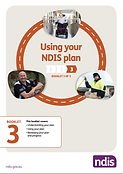 Cover of NDIS Guide 3, Using your NDIS plan