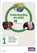 Cover of NDIS booklet, understanding the