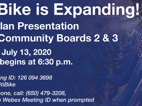 DOT Citi Bike Expansion Presentation for Bx Community Borards 2 & 3