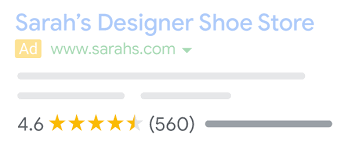 Star Ratings Google Ads