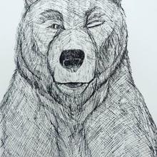 Bearwithinkonpaperwinking
