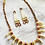 Thumbnail: Imitation Elk Tooth Necklace with Dentalium earrings
