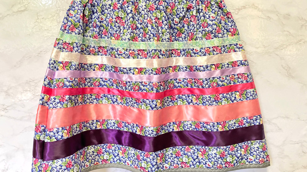 Blueberry Ribbon Skirt