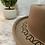 Thumbnail: Beige Floral Wool Hat
