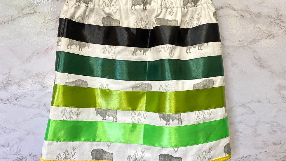 Youth Buffalo white ribbon skirt