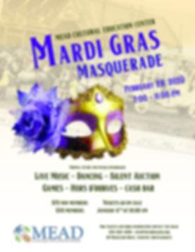 Mardi Gras Masquerade Poster 8.5 x 11-pa
