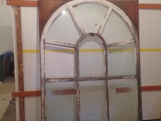 Arch Window Restoration Begins