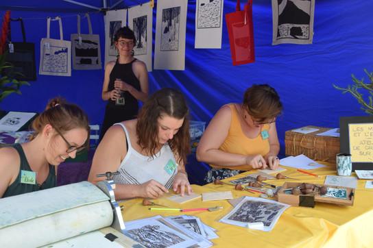Atelier Gravure sur Bois - RDVLH2019 (12